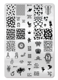 UberChic - Big Nail Stamping Plate - Fairy Tale - 02