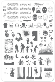 Clear Jelly Stamper - Big Stamping Plate - CJS_H24 - Wicked Halloween