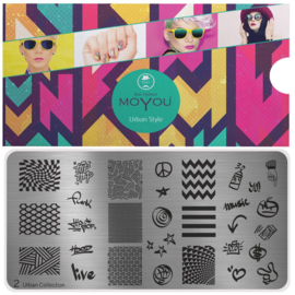 Moyou Nail Fashion - XL Stamping Plate - Urban Collection - 2