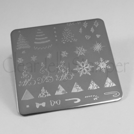 Clear Jelly Stamper - Stamping Plate - CJS_C01 - Christmas Tree