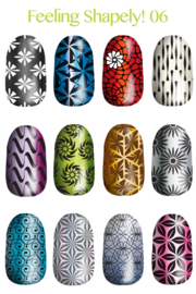Lina - Stamping Plate - Feeling Shapely! - 06