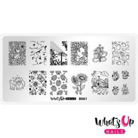 Whats Up Nails - Stamping Plate - B061 Summer in the Countryside