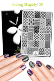 Lina - Stamping Plate - Feeling Shapely! - 08