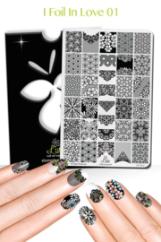 Lina - Stamping Plate - I Foil in Love - 01