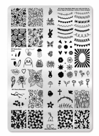 UberChic - Big Nail Stamping Plate - Welcome Spring