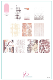 Clear Jelly Stamper - Big Stamping Plate - CJS_200 - Grunge Series – Textures