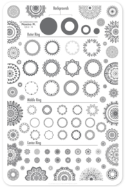 Clear Jelly Stamper - Big Stamping Plate - CJS_LC18 - Myriad of Mandalas