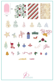 Clear Jelly Stamper - Big Stamping Plate - CJS_C21 Baubles & Bells
