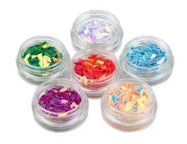 Nailways - Oval Glitter Dazzling Set - 6 kleuren