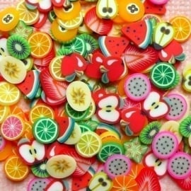 Nail art Fimo - Fruitmix (1000 stuks)