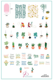 Clear Jelly Stamper - Big Stamping Plate - CJS_LC07- Crazy Plant Lady