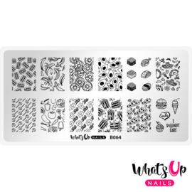 Whats Up Nails - Stamping Plate - B064 - Wakey Wakey, Eggs and Bakey