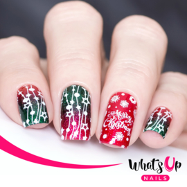 Whats Up Nails - Stamping Plate - B022 Winter Time