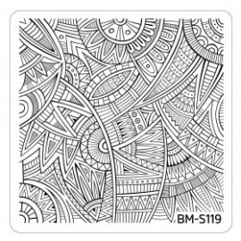 Bundle Monster - Paisley Flow Nail Art Manicure Stamping Plate - Ancestral Flux