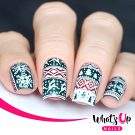 Whats Up Nails - Stamping Plate - B003 Sweater Weather