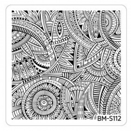 Bundle Monster - Paisley Flow Nail Art Manicure Stamping Plate - Thriving Tribal