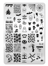 UberChic - Big Nail Stamping Plate - Halloween - 01