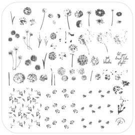 Clear Jelly Stamper - Medium Stamping Plate - CJS_156 - Just Breath