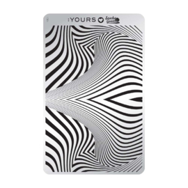 Yours Cosmetics - Stamping Plates - :YOURS Loves Sascha - YLS04. Zebra