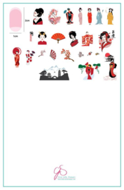 Clear Jelly Stamper - Big Stamping Plate - CJS_LC68 - Geisha
