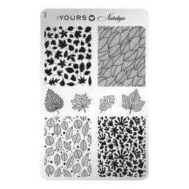 Yours Cosmetics - Stamping Plates - :YOURS Loves Nataliya - YLN07. Foliage (double sided)