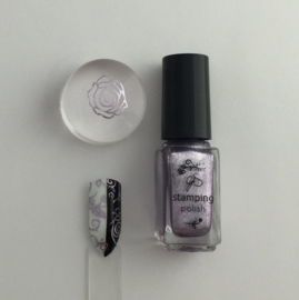 Clear Jelly Stamper Polish - #35 Paula's Pixie Purple