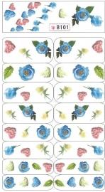 Waterdecals - Heart Roses