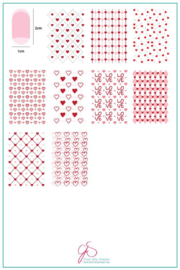 Clear Jelly Stamper - Big Stamping Plate - CJS_V21 - Wallpaper - LOVE!