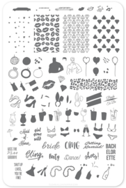 Clear Jelly Stamper - Big Stamping Plate - CJS_71 - Kiss The Miss Goodbye