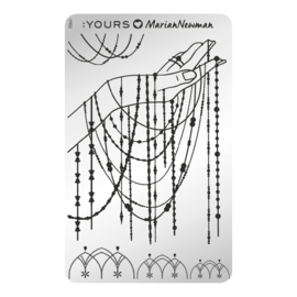 Yours Cosmetics - Stamping Plates - :YOURS Loves Marian Newman - YLM02. Charm of Chains