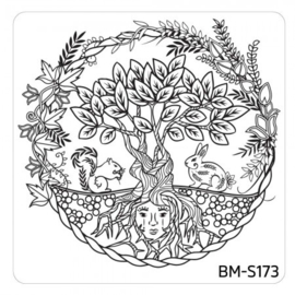 Bundle Monster - Mystic Woods Nail Stamp Plate - Mother Earth
