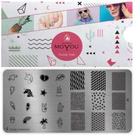 Moyou Nail Fashion - XL Stamping Plate - Trendy Collection - 4