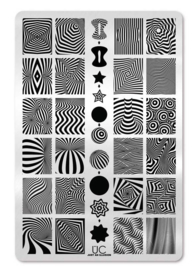 UberChic - Big Nail Stamping Plate - Just an Illusion