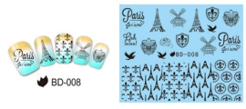 Waterdecals - Paris Je 't aime