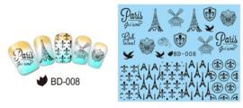 Waterdecals - Paris Je 't aime