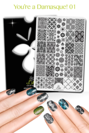 Lina - Stamping Plate - You're a Damasque! - 01
