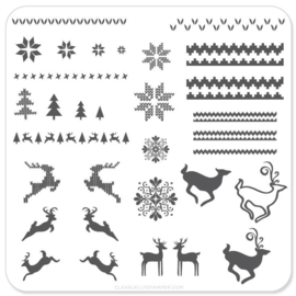 Clear Jelly Stamper - Stamping Plate - CJS_C02 - Christmas Sweater