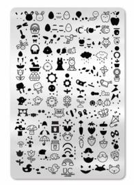 UberChic  - Big Nail Stamping Plate - Spring Kawaii