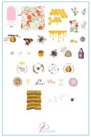 Clear Jelly Stamper - Big Stamping Plate - CJS_68 - Save the Bees!