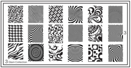 Moyou Nail Fashion - XL Stamping Plate - Glam Collection - 3