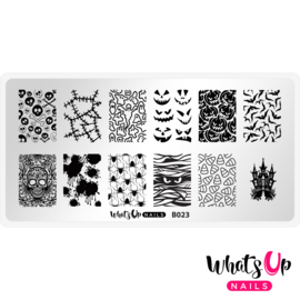 Whats Up Nails - Stamping Plate - B023 Creepin it Real