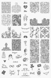 UberChic  - Big Nail Stamping Plate - Love and Marriage - 01