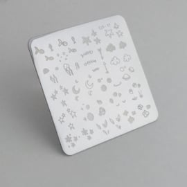 Clear Jelly Stamper - Stamping Plate - CJS_17 - Mini Sea and Stars Doodle