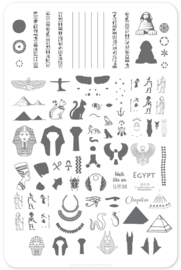 Clear Jelly Stamper - Big Stamping Plate - CJS_LC33 - Jewels of Egypt