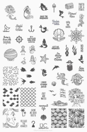 UberChic  - Big Nail Stamping Plate- Mermaid Life