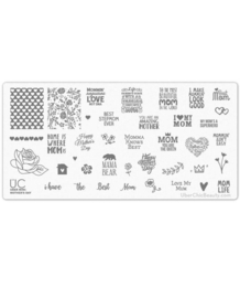 UberChic - Mini Nail Stamping Plate- Mother's Day