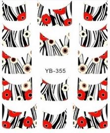 Waterdecals - French Zebra Flower