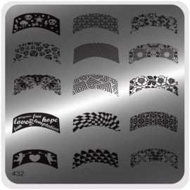 Moyou Nail Fashion - Stamping Plate - Urban Style - 432