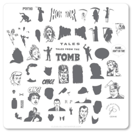 Clear Jelly Stamper - Medium Stamping Plate - CJS_H45 - Tales from the Tomb