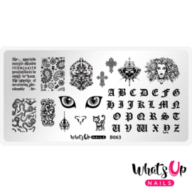 Whats Up Nails - Stamping Plate - B063 - Goth is the New Black